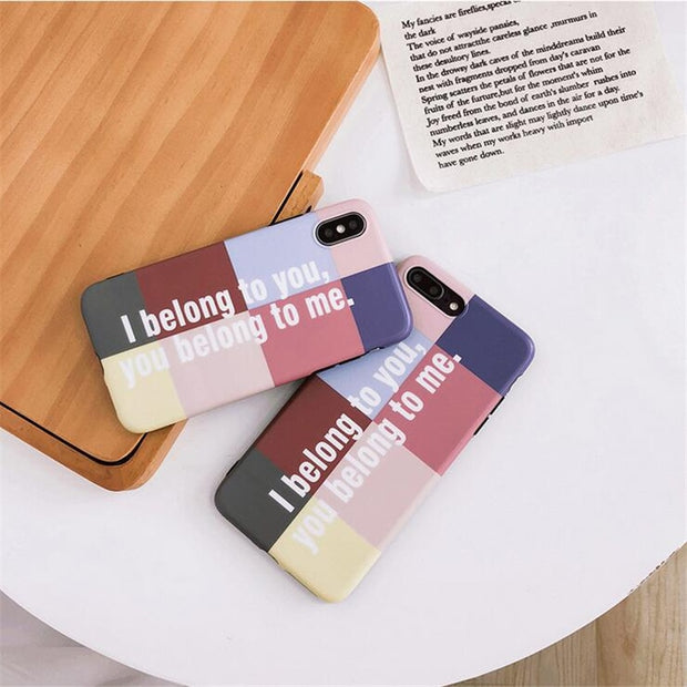 Net Red With The Letter For Iphone Xs Max Case Letter Soft Shell For Iphone X XS XR 7 8 6 6splus All Inclusive Drop-proof Case