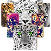 New Animal Soft Back Cover For Apple IPhone 7plus Phone Case Silicon Domineering Lion Tiger Cheetah Pattern Coque Cover