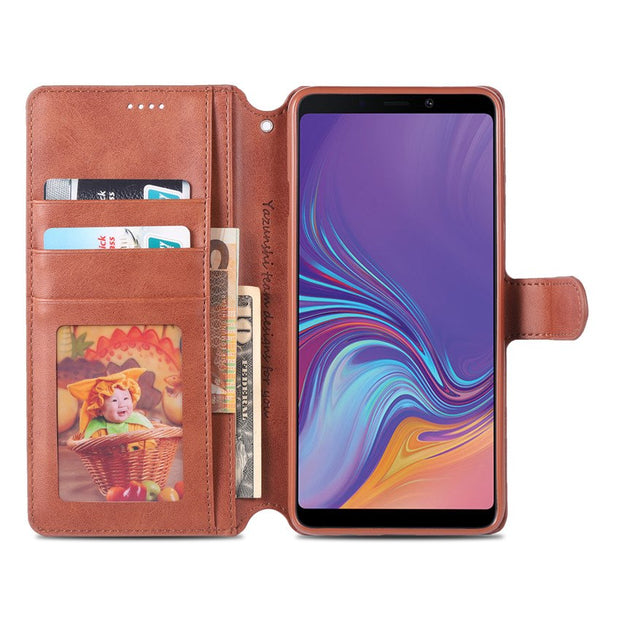 New For Samsung Galaxy A9 2018 Case Cover High Quality Flip Cases For Samsung Galaxy A9 2018 PU Leather Cover Stand Case