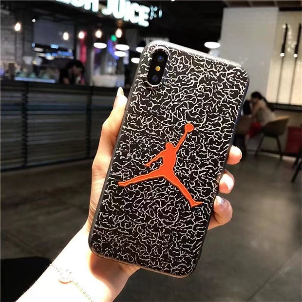New Silicone NBA Case For Coque IPhone X 10 IPhoneX Michael Jordan Air 23 Basketball Cover For IPhone 6 6s 7 8 Plus I6 I7 Funda
