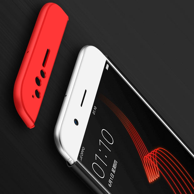 "Newest For OPPO R11 R 11 Case 5.5"" Luxury Hard PC Ultra Thin 360 Full Protection 3 In1 Cover For OPPO R11 Phone Case Fundas"