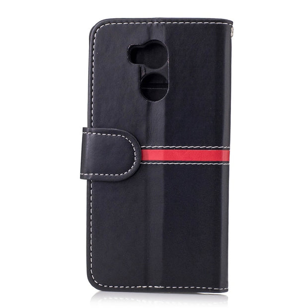 "Newest Fashion Phone Case For Xiaomi Redmi 4 5.0"" Pu Leather Shock Proof Card Holder Cover For Xiaomi Redmi 4 5.0"" Case Black"