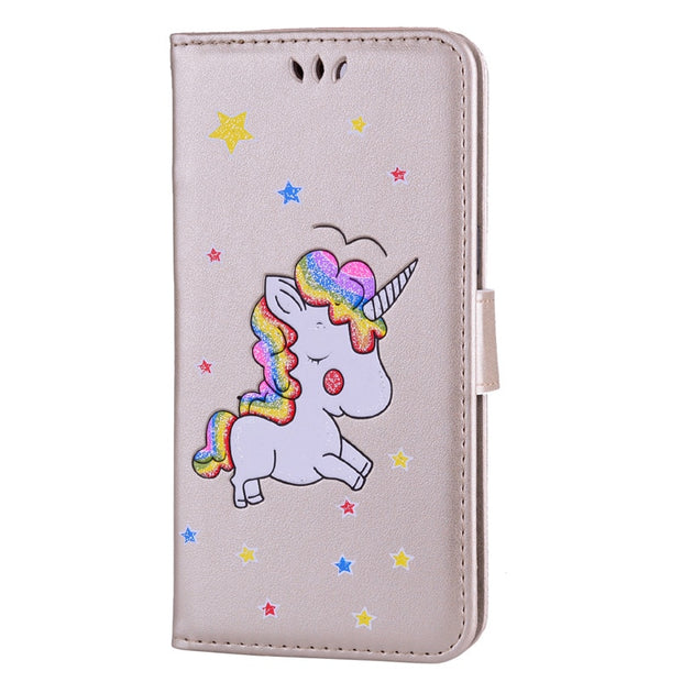 Oneplus 5 Case Fashion Cartoon Unicorn Flip PU Leather Wallet Cases Coque SFor One Plus 5/ Oneplus5 Phone Bag Cover Case Capa