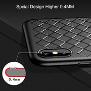 Oppselve Super Soft Case For IPhone X 10 8 7 Plus Luxury Grid Weaving Cases For Samsung S9 Plus S9+ Cover Silicone Accessories