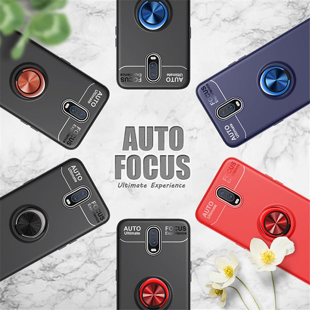 Original Magnetic Ring One Plus 6t 6 Phone Case Car Holder Stand Silicone Shockproof Armor Back Cover For Oneplus 6t 6 T Case