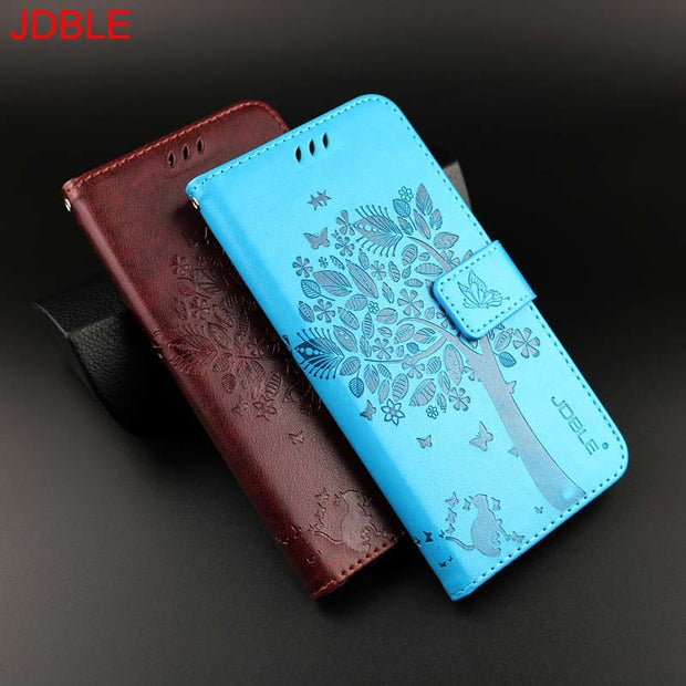 Original Mobile Phone JDBLE Brand For Samsung Galaxy Note 9 3D Tree Cat Pattern Wallet Magnet Mobile Flip Stand Card Case HS0115