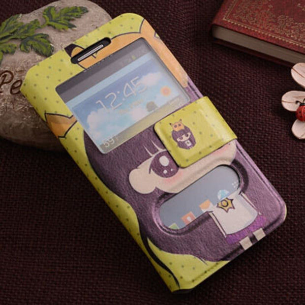 PU Cartoon Stand Holster Flip Leather Back Cover Case For Asus Pegasus 2 Plus