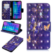 PU Leather Case For Huawei Honor 8C Luxury Flip Card Slot Wallet Cover For Huawei Honor Play 8C BKK-AL10 Flower Butterfly Cat