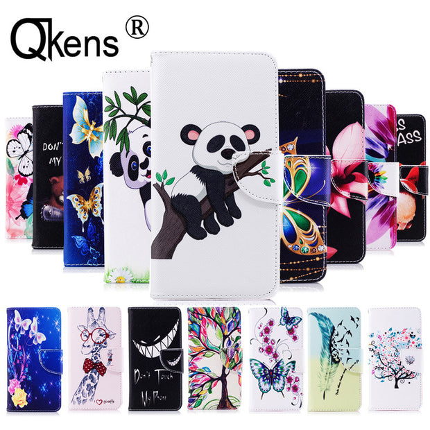 PU Leather Case For LG Stylo 4 Case For LG Stylo4 Cover Flip Butterfly Flower Color Painted Card Slot Wallet Stand Phone Shell