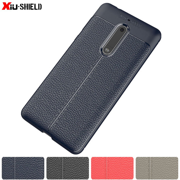 PU Silicone Phone Case For Nokia 5 TA-1053 TA-1024 TA-1008 Fitted Case Soft TPU Cover For Nokia5 TA 1053 1024 1008 Striae Cases