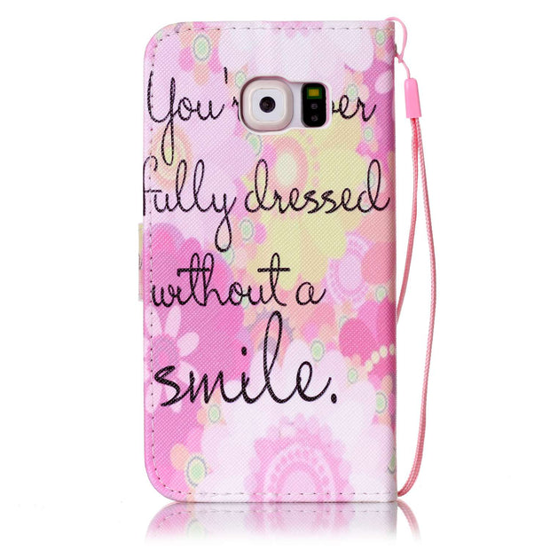 Painting Case For Samsung Galaxy S6 S 6 Duos G920 G920F G920FD G920W8 SM-G920W8 SM-G920FD SM-G920F Wallet Card Slot Phone Case