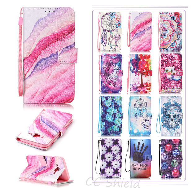 Painting Case For Samsung Galaxy J5 J 5 2015 SM J500 J500F J500H J500FN J500Y J500H/DS SM-J500 SM-J500F Case Phone Leather Cover