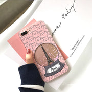 Paris Eiffel Tower Quicksand Case For Iphone X 7 7Plus Dynamic Liquid Glitter Case For Iphone 6 6s 6Plus 8 8plus Girl Style