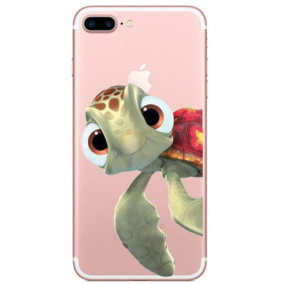 Phone Case For IPhone X 7 8 6 Plus Cute Sea Turtle Case Back Cover Soft TPU For IPhone 7 8 6 6S 7Plus 8Plus Case Fundas Capa