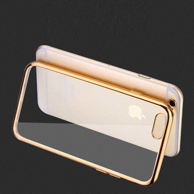 Phone For IPhone 7 7 Plus Case Original TPU Soft Plating Back Cases Fashion Luxury High Quality Cover For IPhone 6 6s 5 5s Cases