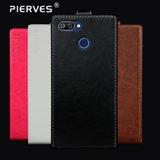 Pierves G0 Luxury Flip PU Leather Wallet Cover Phone Case For Oukitel C11 Pro