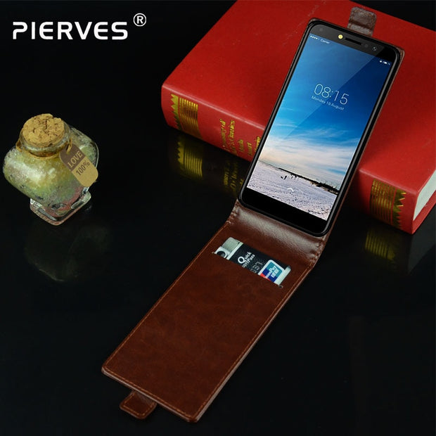 Pierves Luxury Card Slot Flip Cover PU Leather Case For BQ BQ-5515L Fast