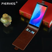 Pierves Luxury Card Slot Flip Cover PU Leather Case For Homtom C1 C2 Mini