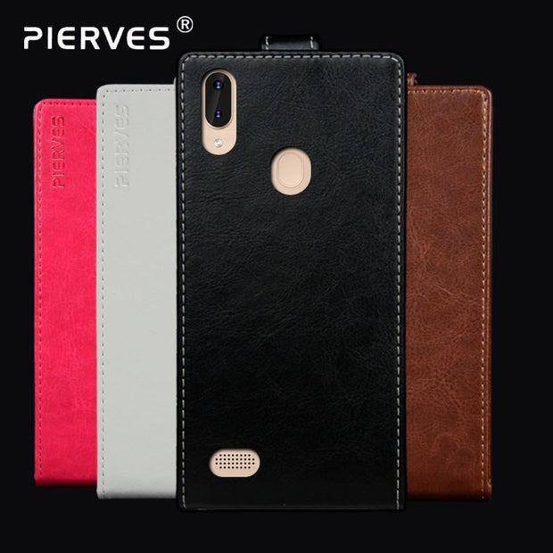 Pierves Luxury Card Slot Flip Cover PU Leather Case For Leagoo M11 M10