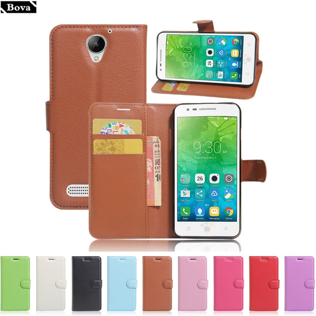 pick up 2ab99 6f0b6 Pu Leather Case For Lenovo C2 Power Wallet Cover Card Holder Phone Case For  Lenovo Vibe C2 Power Protective Shell Pouch