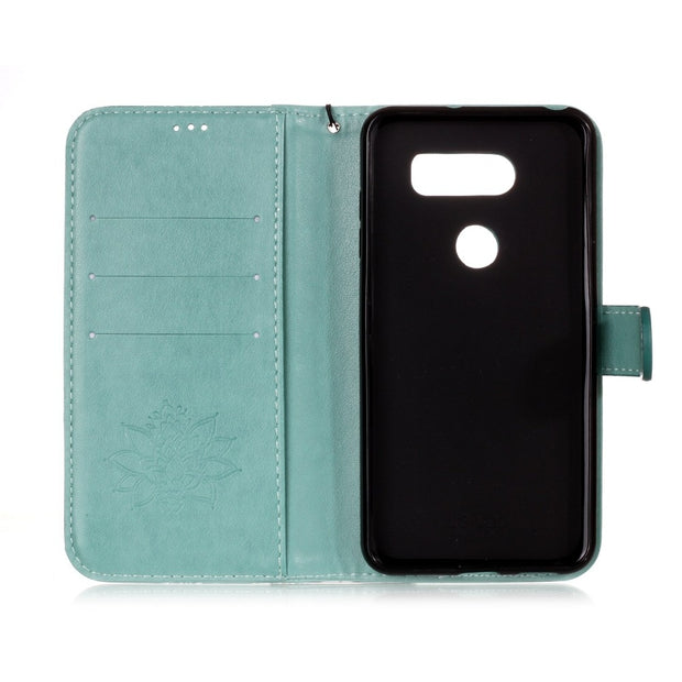 Retro Cowhide Leather Case For LG V35 V30 Phone Cases Detachable Flip Wallet Cover For LG G7 ThinQ