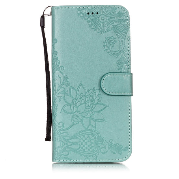 Retro Flip Leather Wallet Phone Cases For Samsung Galaxy S8 S9 Plus S6 S7 Edge S5 S4 S3 Cover Luxury Mandala Flower Pattern Capa