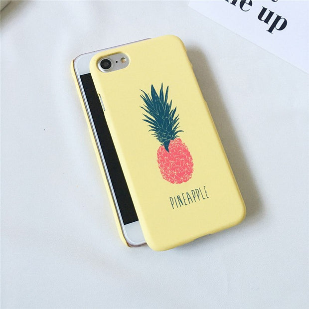 STROLLIFE Cute Phone Cases For IPhone 6Plus Case Ultra Thin Cartoon Letters Pineapple Hard PC Back Cover For Iphone 6sPlus Capa
