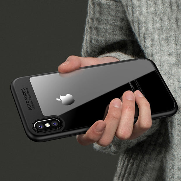 "SUYACS For IPhone 5 5S SE 6 6S 7 Plus X XS MAX XR Case Luxury ""Auto Focus"" Letter PC & TPU Ultra Thin Shockproof Cover Cases"