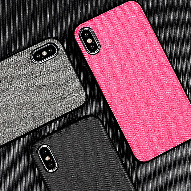 SUYACS Phone Case For Iphone 6 6S 7 8 Plus X XS MAX XR Cut Plain Canvas Soft Leather Graphic Phone Case For IPhone XS MAX XR