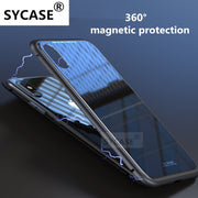 SYCASE Magneto Case For Huawei Mate10 Mate10pro Magnet Absorption Shell Metal Bumper Anti-Scratch Tempered Glass Back Cover