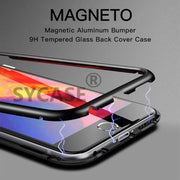 SYCASE Magneto Case For Huawei Honor 10 P20 Pro Lite Magnet Absorption Shell Metal Bumper Anti-Scratch Tempered Glass Back Cover
