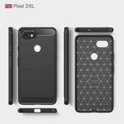 Scratch Resistant Carbon Fiber Shock Absorption Soft TPU Case Drawing Grip Protection Cover For Google Pixel 2 XL