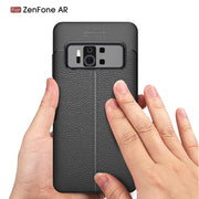 Scratch Resistant Litchi Pattern Soft ShockAbsorption Soft TPU Case Protection Cover For Asus ZenFone AR (ZS571KL)
