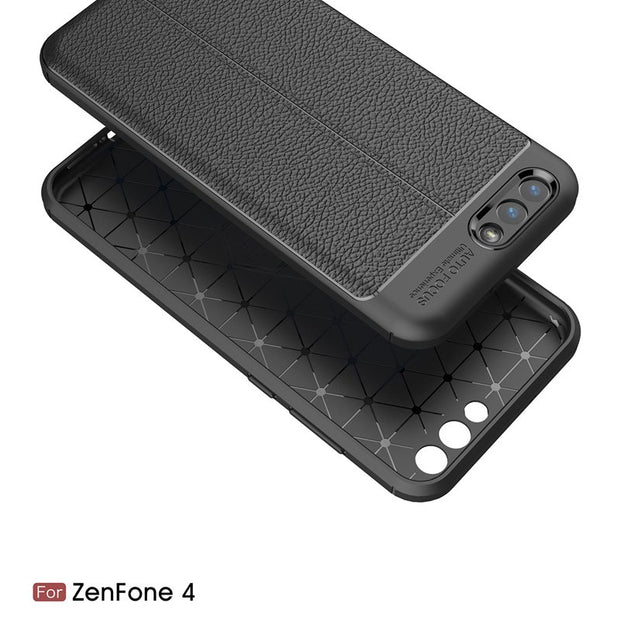 Scratch Resistant Litchi Pattern Soft ShockAbsorption Soft TPU Case Protection Cover For Asus Zenfone 4 ZE554KL