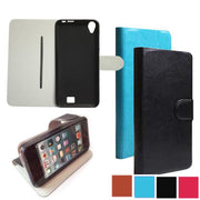 ( Screen Protector Film ) Fashion Wallet Style PU Leather Flip Cover Case For HomTom HT16