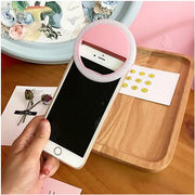 Selfie Ring Mirror Makeup Case For Huawei Honor Y6 Pro 5X 7 Mate 8