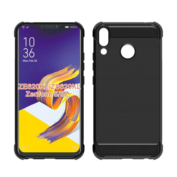 Shock Absorption Cover Soft TPU Anti Scratch Carbon Fiber Back Case For Asus ZenFone 5z ZS620KL/Zenfone 5 ZE620KL