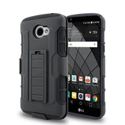 ShockProof Defender Heavy Duty Armour Tough Stand Case Cover With Belt Clip For LG K3 LS450