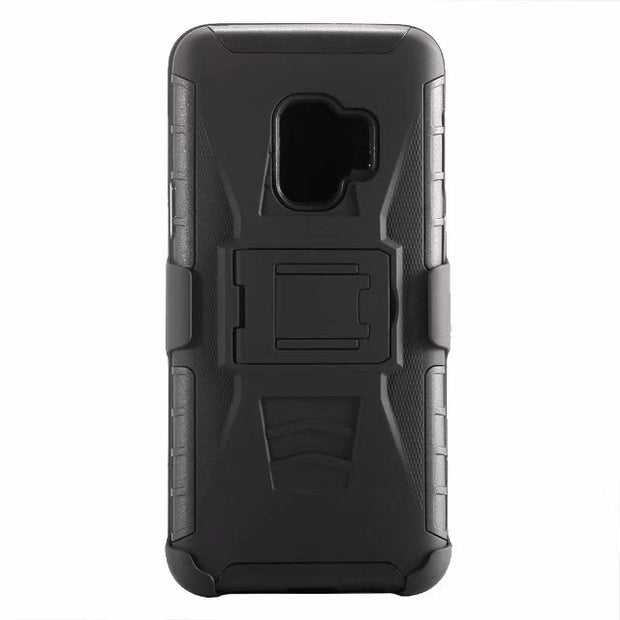 ShockProof Heavy Duty Armour Tough Stand Case With Belt Clip For Samsung Galaxy S9