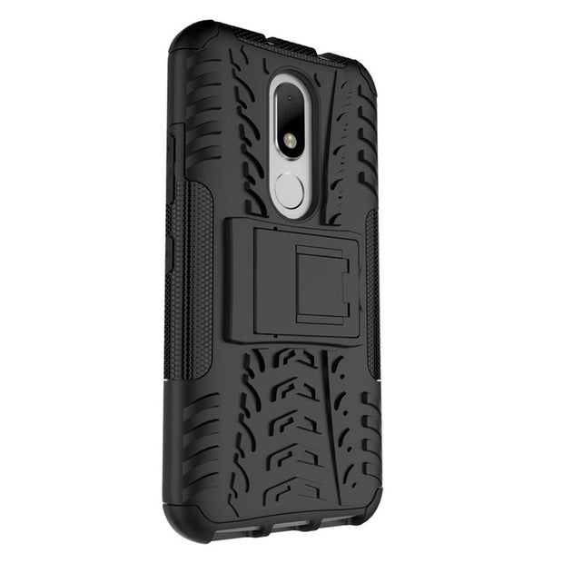 Shockproof Armor Hybrid Rubber Hard Stand Case Cover For Motorola Moto M
