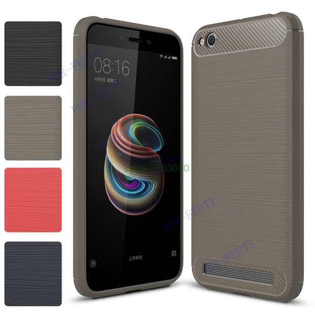 check out 0b31b c5928 Shockproof Cases For Xiaomi Redmi 5A 5 A Redmi5A Silicone Bumper For Xiaomi  Redmi A5 Red Mi 5A Redmi5 A Carbon Fiber Phone Cover