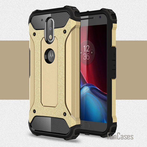 Shockproof G4 G4 PLUS Armor Case Plastic + TPU Hybrid Case For Motorola G4 G4 Plus Cases Slim Hard Tough Phone Covers Bags Para