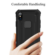 Shockproof Hide Bracket Case For IPhone X 10 6 6plus 6s 7 7plus 8 8plus Car Magnetic Hard Armor Cover Stand Protector Etui Mujer