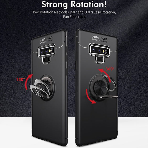 Shockproof Ring Holder Phone Case For Samsung S9 S8 Plus Cover Note 9 8 Soft TPU Car Stand Cover For Samsung J8 J7 J6 J5 J3 2017