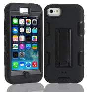 Shockproof Stand 3 In 1 Hybrid Silicone Hard Combo High Impact Case Cover For Iphone 5 5s