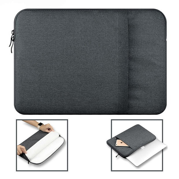Shockproof Tablet Bag For Kindle 6 Inch For Macbook 11 13 12 15 Inch Zipper Nylon Waterproof Bag Universal Liner Sleeve Pouch