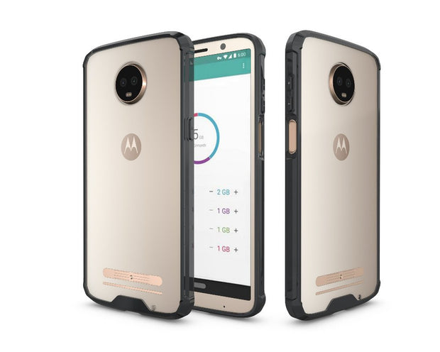 Shockproof Tough Hard PC+ TPU Case Scratch-Resistant Cover For Moto Z3 Play