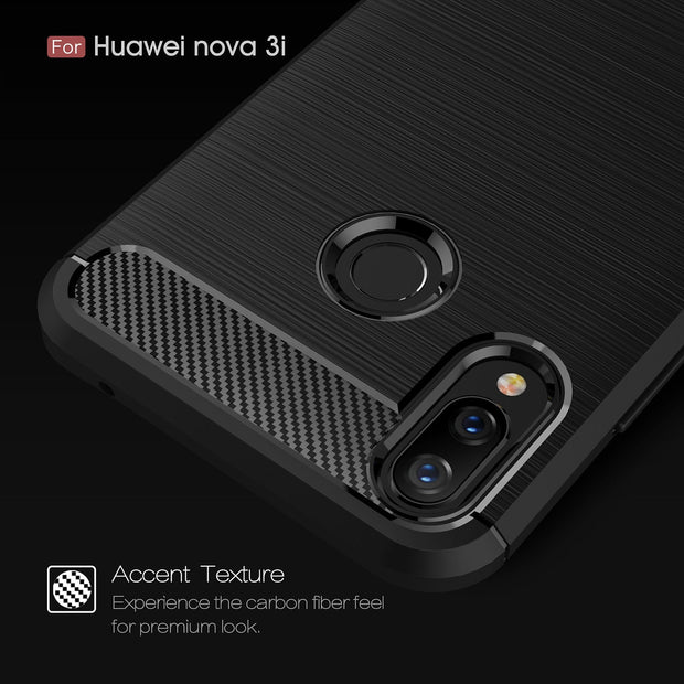 Silicone Case For Huawei Mate 10 Pro P20 P10 Lite P9 P8 Lite Nova 3 2i 2S P Smart Soft Carbon Fiber Back Cover Bumper Phone Case