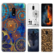 Silicone Cover For Nokia 6 Phone Case For Nokia 6 2017 Cartoon Patterned Skin Soft TPU Back Covers For Nokia6 2017 Case Ky306