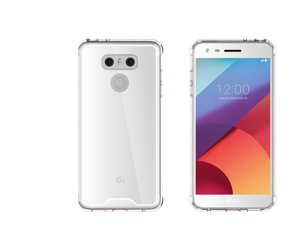 Slim-Fit Shockproof PC+TPU Transparent Thin Crystal Clear Hard Case For LG G6